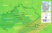 Cumberland Gap Wikipedia - Location of cumberland va on the us map
