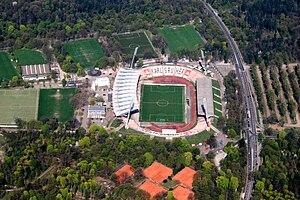 Aerial photo of the Wildpark Stadium (2009)