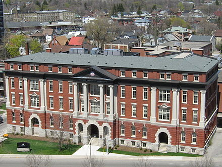 Home of Faculty of Social Work, downtown Kitchener. Formerly St. Jerome's high school.