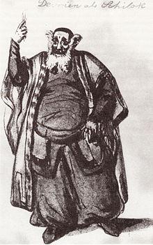 Devrient als Shylock (Skizze von Wilhelm Hensel) (Quelle: Wikimedia)