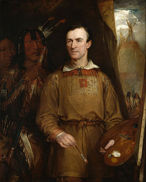William Fisk (painter) - Portrait of George Catlin, 1849.