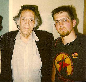 Texas v. Johnson - Johnson (to right) with attorney Kunstler, c. 1989