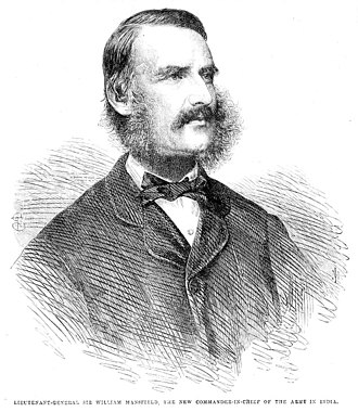 William Mansfield, 1st Baron Sandhurst - Portrait from the Illustrated London News 13 May 1865