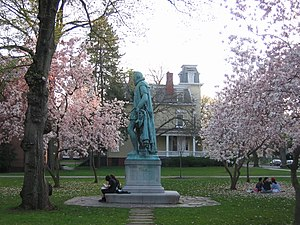 Rutgers University traditions and customs - Statue of Prince William the Silent on the Voorhees Mall