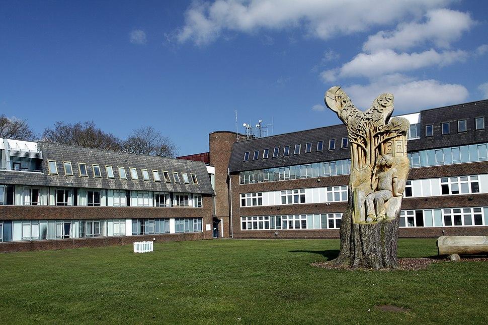 Wilson building at Open University Campus in Milton Keynes, spring 2013 (3)