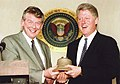 Wim Kok and Bill Clinton with the Netherlands Carillon's Fiftieth Bell.jpg