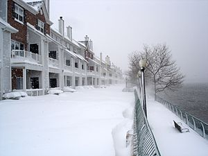Droyer's Point - Winter on the Hackensack RiverWalk at Society Hill