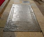 Wismar, Heiligen-Geist Grabplatte im Fußboden.JPG