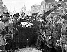 Проводы женского батальона смерти в Москве. Лето 1917 г.