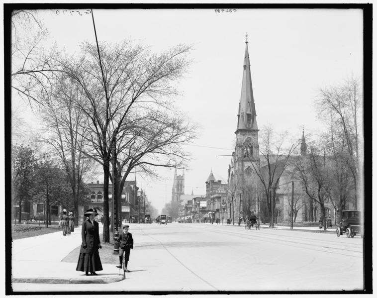 File:Woodward Avenue Grand Circus Park 1910 - Detroit Michigan.tif