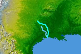 Sabine River (Texas–Louisiana) - Image: Wpdms nasa topo sabine river