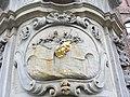 Wroław, płaskorzeźba na cokole pomnika św. Jana Nepomucena przed kościołem pw. św. Macieja (Aw58).JPG