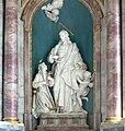 Wurzach Pfarrkirche Hochaltar Christus und Pilger.jpg