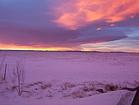 Snow at Sunset, Wyoming