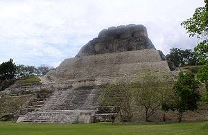 Pre-Columbian Belize - A Mayan temple 'pyramid' at Xunantunich, in Cayo District, Belize.