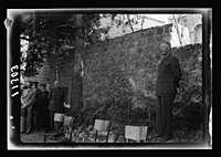 Y.M.C.A. Hostel in J'lem. (i.e., Jerusalem) for the men of H.M. Forces. Address by Mr. Massey, close up LOC matpc.20568.jpg