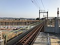 Yabegawa River from platform of Nishitetsu-Nakashima Station.jpg