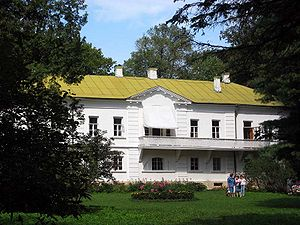 Tolstoy's house at Yasnaya Polyana, today a mu...