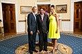 Yayi Boni with Obamas 2014.jpg