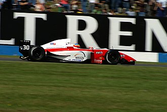 Yelmer Buurman - Buurman driving for Fortec Motorsport in the Donington Park round of the 2007 Formula Renault 3.5 Series season.