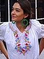 Young Woman in Traditional Dress - Templo Nuestra Senora de La Merced - Centro Historico - Puebla - Mexico (15537550165).jpg