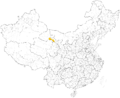 Yugur autonomous prefectures and counties in China.png