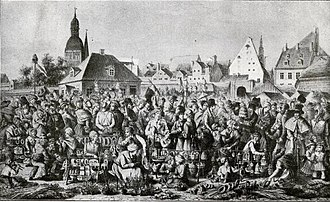 Jāņi - Herbal Eve at the Daugavmalas in 18th century.