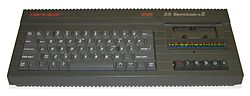 The ZX Spectrum +2. This was the first new Spectrum model released by Amstrad after their purchase of the range.
