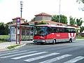 Zastávka Šestajovice, Balkán, autobus SOR.jpg