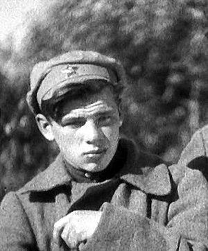 Georgiy Zhzhonov - Georgiy Zhzhonov as Teryoshka in the film Chapayev. 1934.