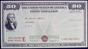 Series E bond - $50 Series E bond (1941–1945)