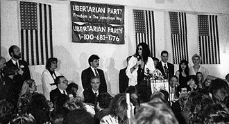 Howard Stern - Stern at the Libertarian Party convention in Albany, New York in April 1994 during his candidacy for Governor of New York.