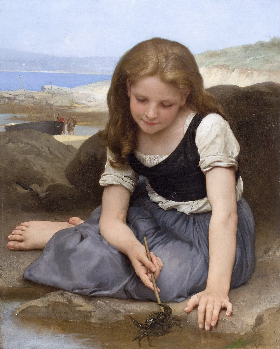 """""""Le Crabe"""" by William-Adolphe Bouguereau"""