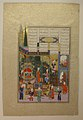 """""""The Coronation of the Infant Shapur II"""", Folio 538r from the Shahnama (Book of Kings) of Shah Tahmasp MET sf1970-301-59.jpg"""
