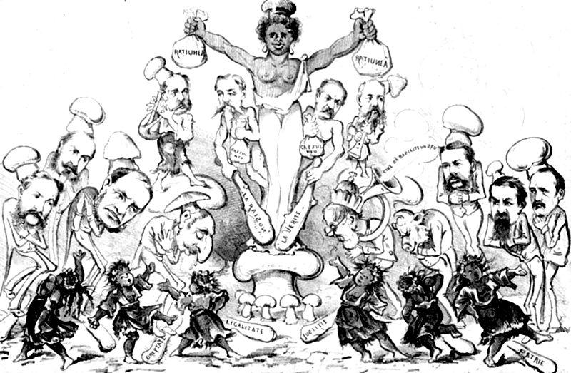 File:'Ce are să facă fabula religieĭ cu fericirea raţionată!', Ghimpele, 19 dec 1876.JPG