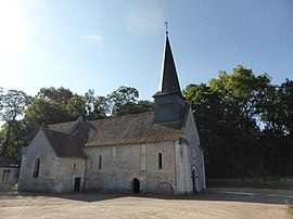 The church of Saint-Germain, in Civray-de-Touraine