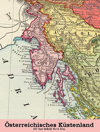 History of Istria - Istria as part of Austrian Littoral in the 19th century