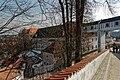 Český Krumlov - K zámecké zahradě - View SE on Garden Connection of Plaštovy Most - Cloak Bridge - Mantelbrücke 1777.jpg