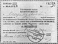 Świadectwo wpłacenia kontrybucji Kutschera gmina Wawer.jpg
