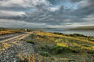 Rybachy Peninsula - Image: Бухта Озерко, губа Бол. Мотка