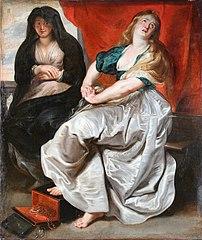 Кающаяся Мария Магдалина с сестрой Марфой