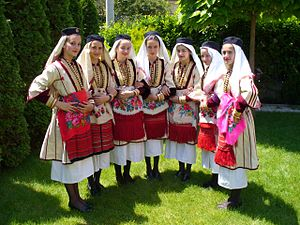 Mijaks - Girls in Mijak dress.