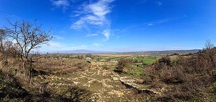 Panoramic view of the archaeological site Tauresium, Macedonia