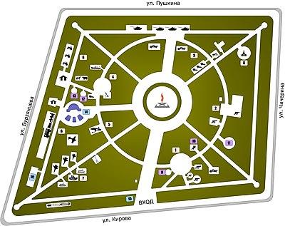 Схема выставочного комплекса «