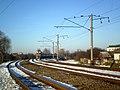 Цягнік рэгіянальных ліній эканом-класа Высока-Літоўск - Брэст прыбывае на канцавую станцыю Брэст Цэнтральны (2) - panoramio.jpg
