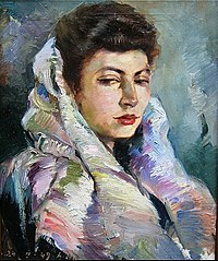 Portrait of painter's wife Olimpia Sargsyan