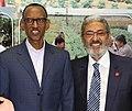 חזי בצלאל עם נשיא רואנדה פול קגאמה.jpg