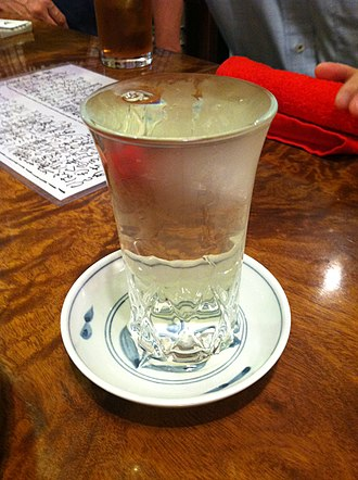 Sake - Sake served in a clear glass