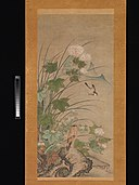 夏秋花鳥図-Birds and Flowers of Summer and Autumn MET DP361148.jpg