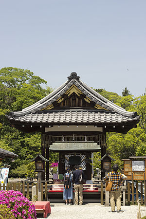 Buddhist temples in Japan - Honden of the Zennyo Ryūō shrine, inside a Shingon temple in Kyoto